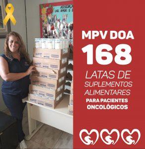 MPV DOA MAIS DE 169 LATAS DE SUPLEMENTO